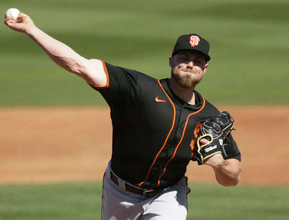 FILE - San Francisco Giants pitcher Sam Coonrod throws during the third inning of a spring training game against the San Diego Padres on March 1 in Peoria, Ariz. Photo: Associated Press