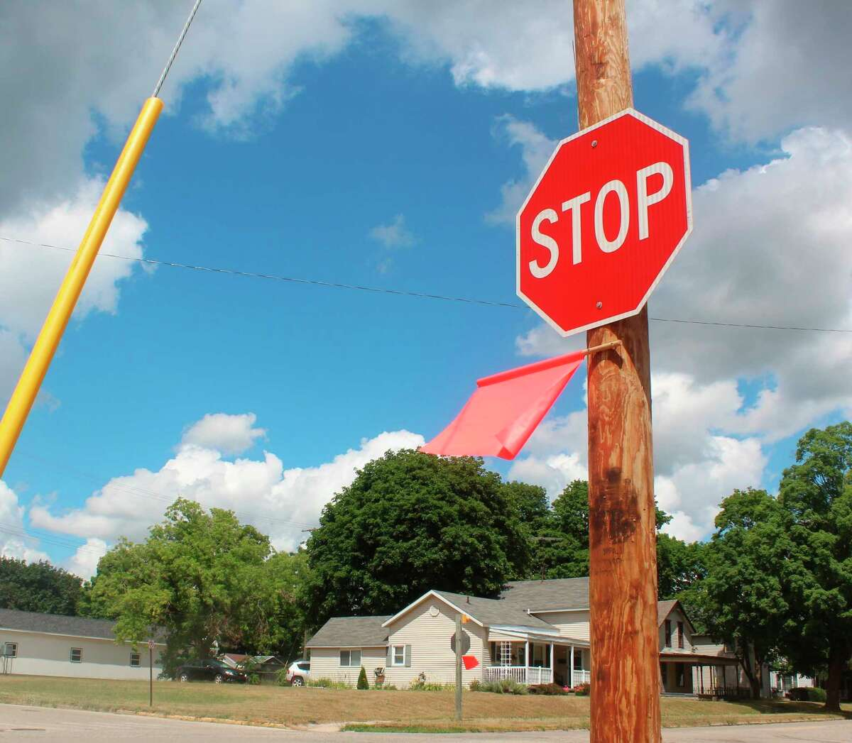 A temporary three-way stop implemented in July to regulate traffic - at the intersection of North Michigan Avenue and Bellevue Street - by the Big Rapids Middle School will now be in place permanently.