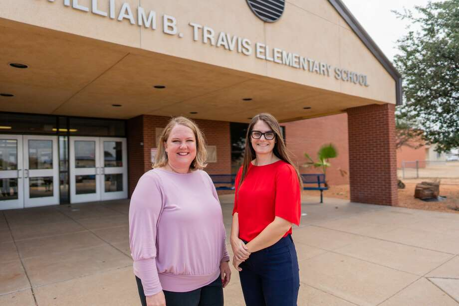 Bethany Solis, left, is executive director of IDEA Public Schools in the Permian Basin, and Hailey McCarthy is executive principal of IDEA Travis Academy. Photo: Courtesy Photo
