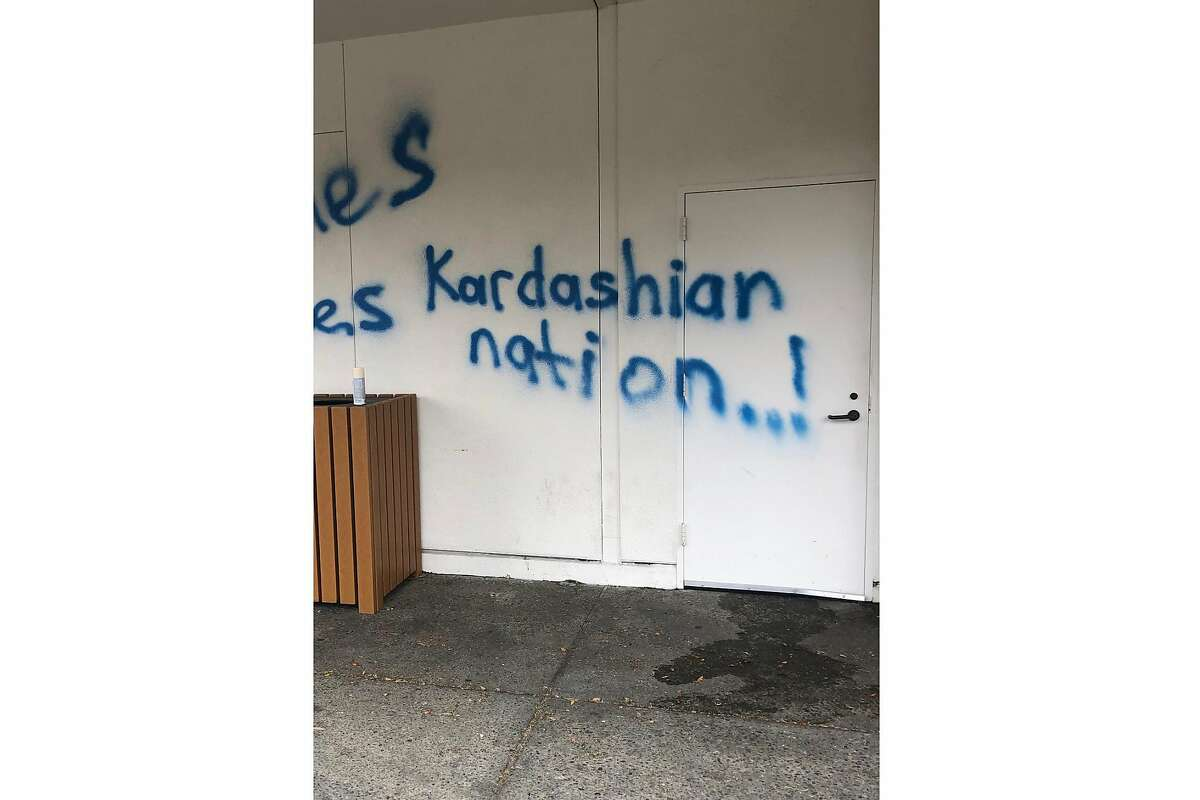 Vandals targeted the Krouzian-Zekarian-Vasbouragan Armenian School in San Francisco with threatening and racist graffiti in an attack that claims to support a violent, anti-Armenian movement led by Azerbaijan.