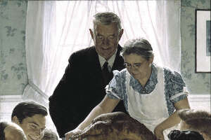Freedom from Want, Norman Rockwell    Oil on canvas Saturday Evening Post, March 6, 1943 ?1943 SEPS:  Licensed by Curtis Publishing, Indianapolis, IN Norman Rockwell Museum Collection