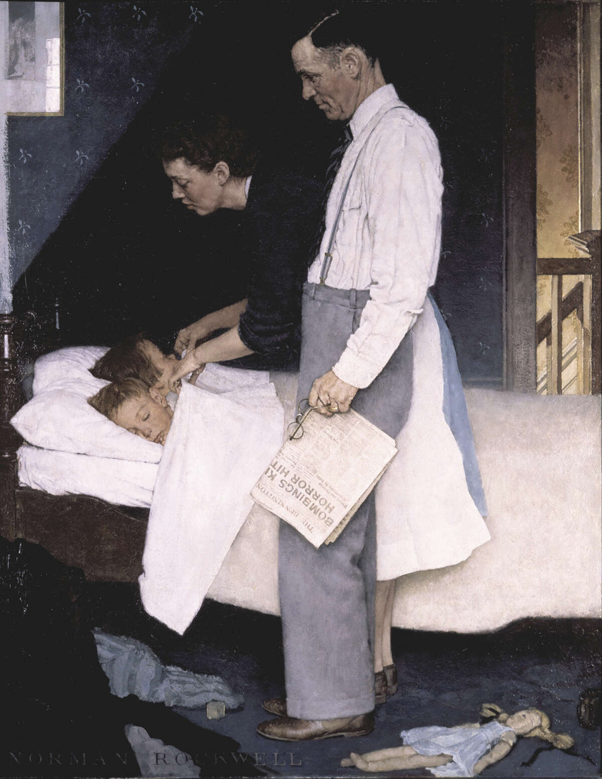 Freedom from Fear, Norman Rockwell Oil on canvas Saturday Evening Post, March 13, 1943 ?1943 SEPS: Licensed by Curtis Publishing, Indianapolis, IN Norman Rockwell Museum Collection