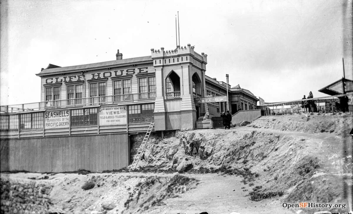 The first Cliff House, circa 1890