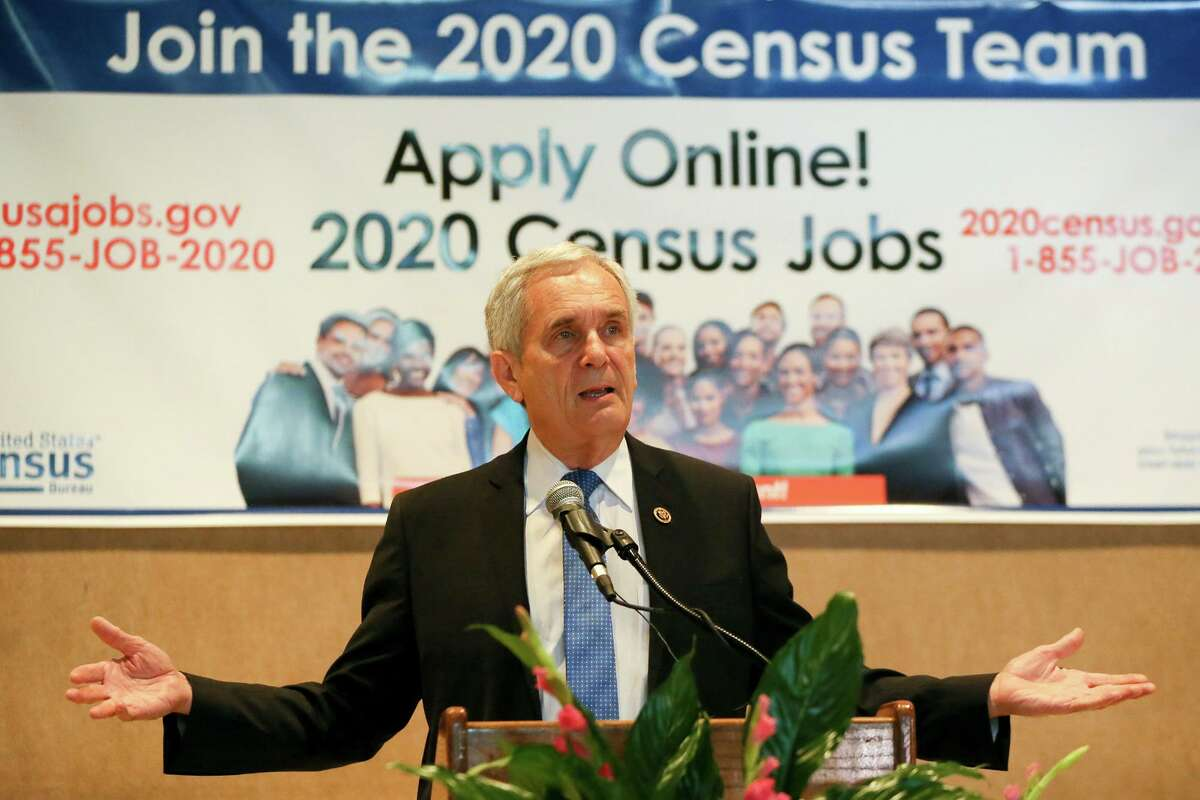 """Congressman Lloyd Doggett talks about the importance of the upcoming 2020 census in the keynote speech during the U.S. Census Bureau's """"grand opening"""" of its new San Antonio area census office at 1306 Guadalupe Street on Thursday, Oct. 10, 2019."""