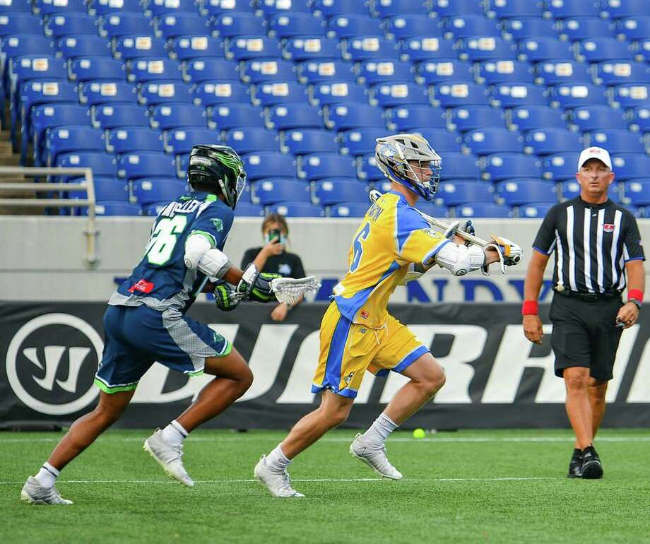 Rookie Ben Martin had five goals as Connecticut Hammerheads clinched spot in Major League Lacrosse semifinals with win over Chesapeake. Photo: Contributed Photo/Major League Lacrosse