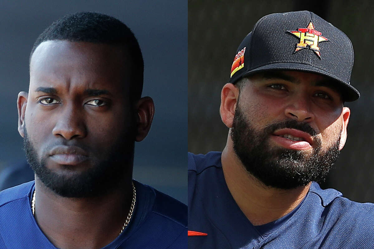 Yordan Alvarez (left) and Jose Urquidy, both expected to be key cogs for the Astros this season, are in Corpus Christi training for the season after missing all of summer camp.