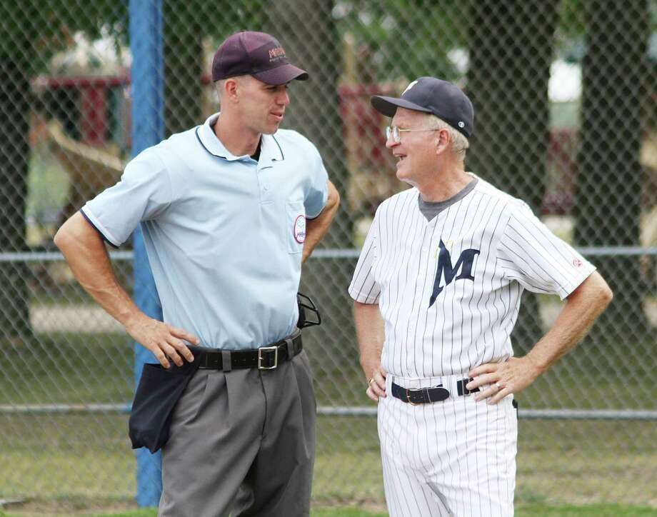Phil Kliber of the Manistee Saints is now the namesake of the field at Rietz Park. (News Advocate file photos)
