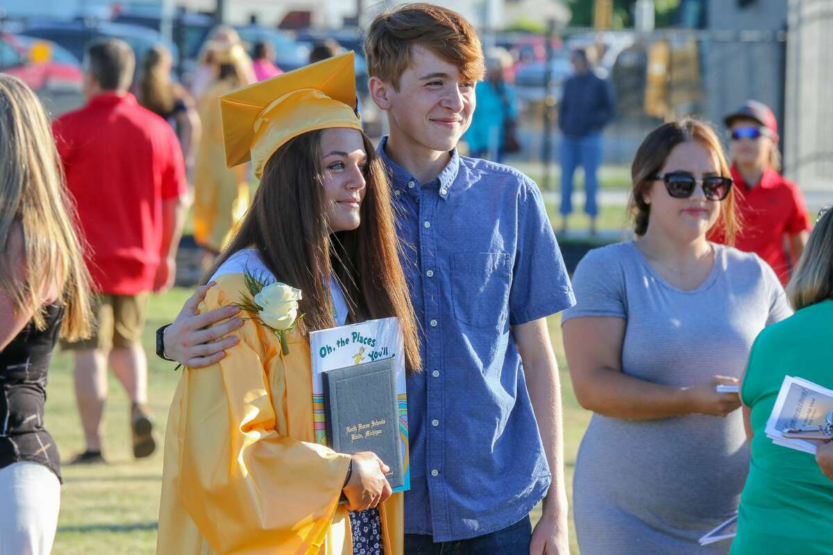 Students at North Huron High School celebrated their graduation during a ceremony Friday, July 24.