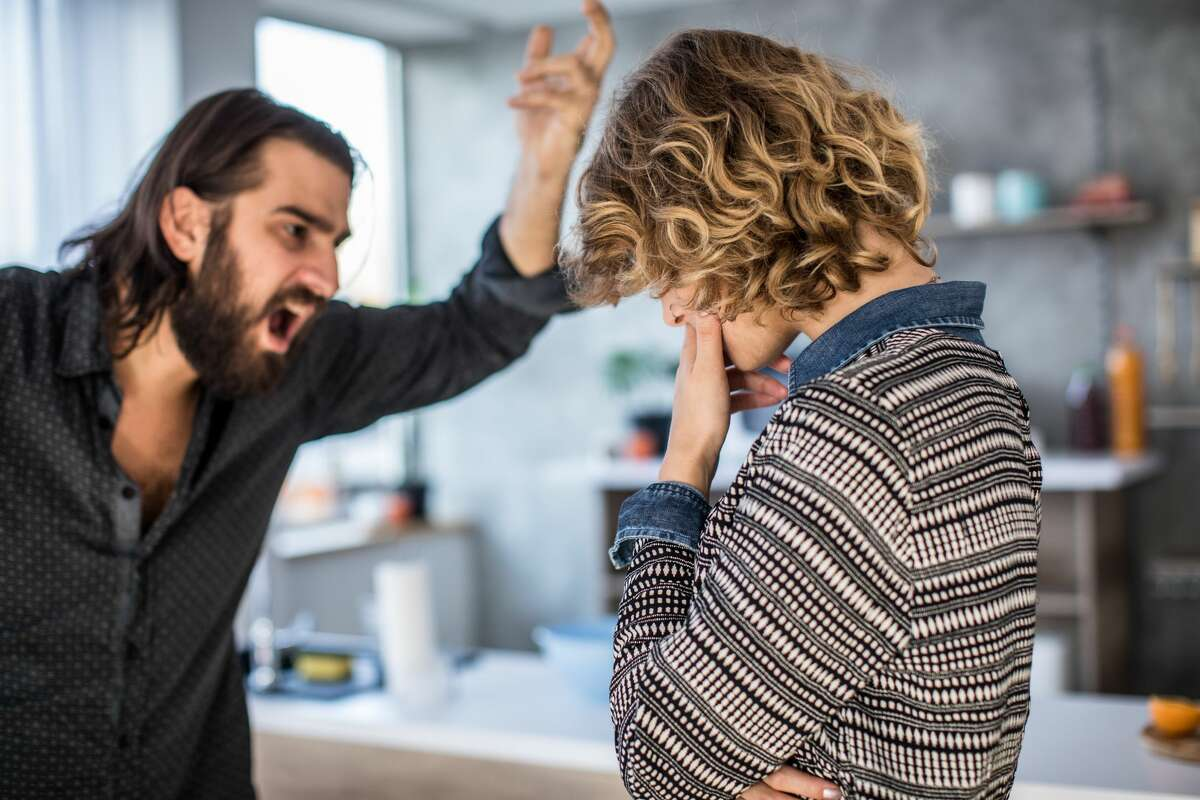 A woman is upset with her boyfriend throwing tantrums when they argue.