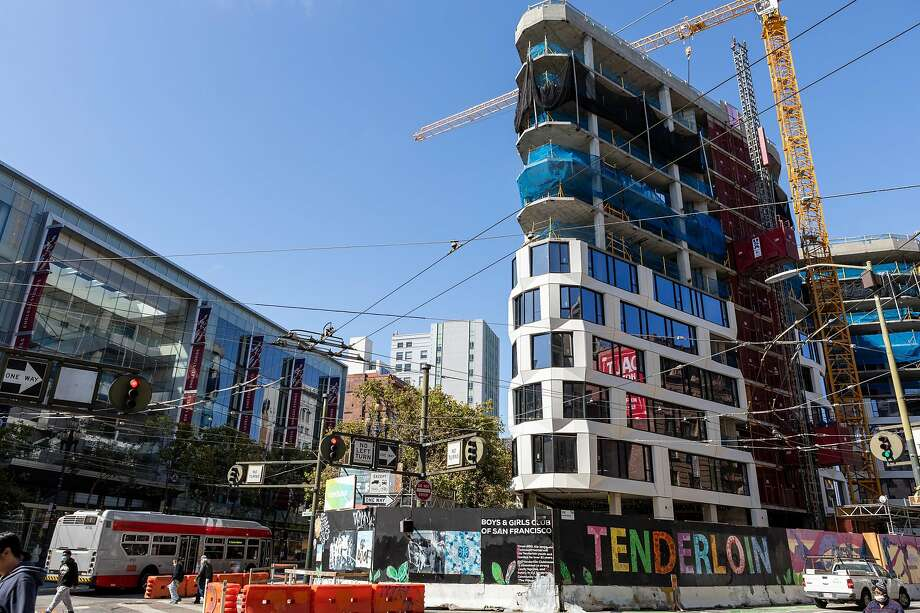 View of the outside of 950 Market St., a hotel/condo development, seen on Friday, July 17, 2020, in San Francisco, Calif.� Photo: Constanza Hevia H. / Special To The Chronicle