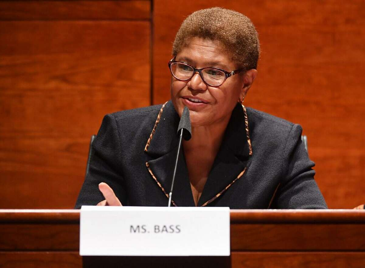 Rep. Karen Bass (D-CA) speaks at a House Judiciary Committee meeting on Capitol Hill on June 17, 2020, in Washington, D.C.