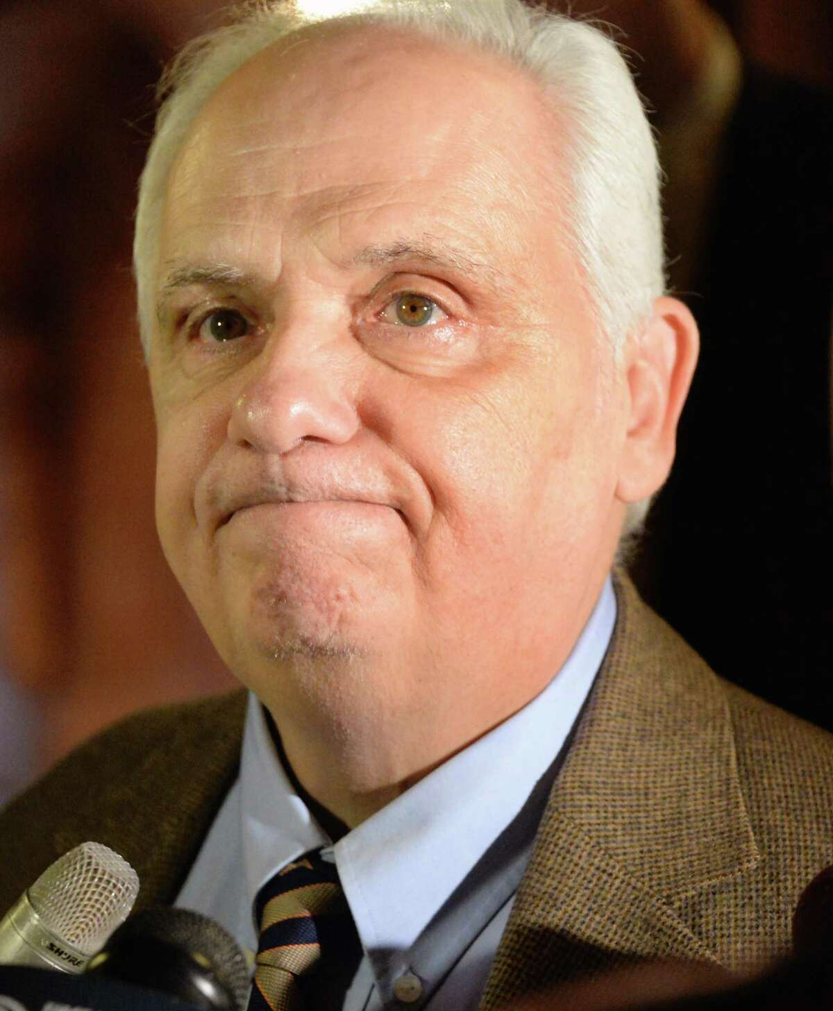 NYS Assemblyman Joseph Lentol speaks with reporters outside the Assembly Chambers Tuesday Jan. 27, 2015. (John Carl D'Annibale / Times Union)