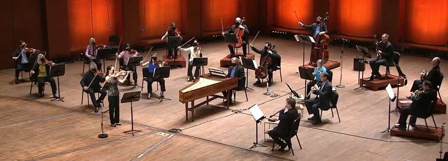 The Houston Symphony's Live From Jones Hall has each symphony musicians socially distanced while performing. Tickets to the live stream are $10.