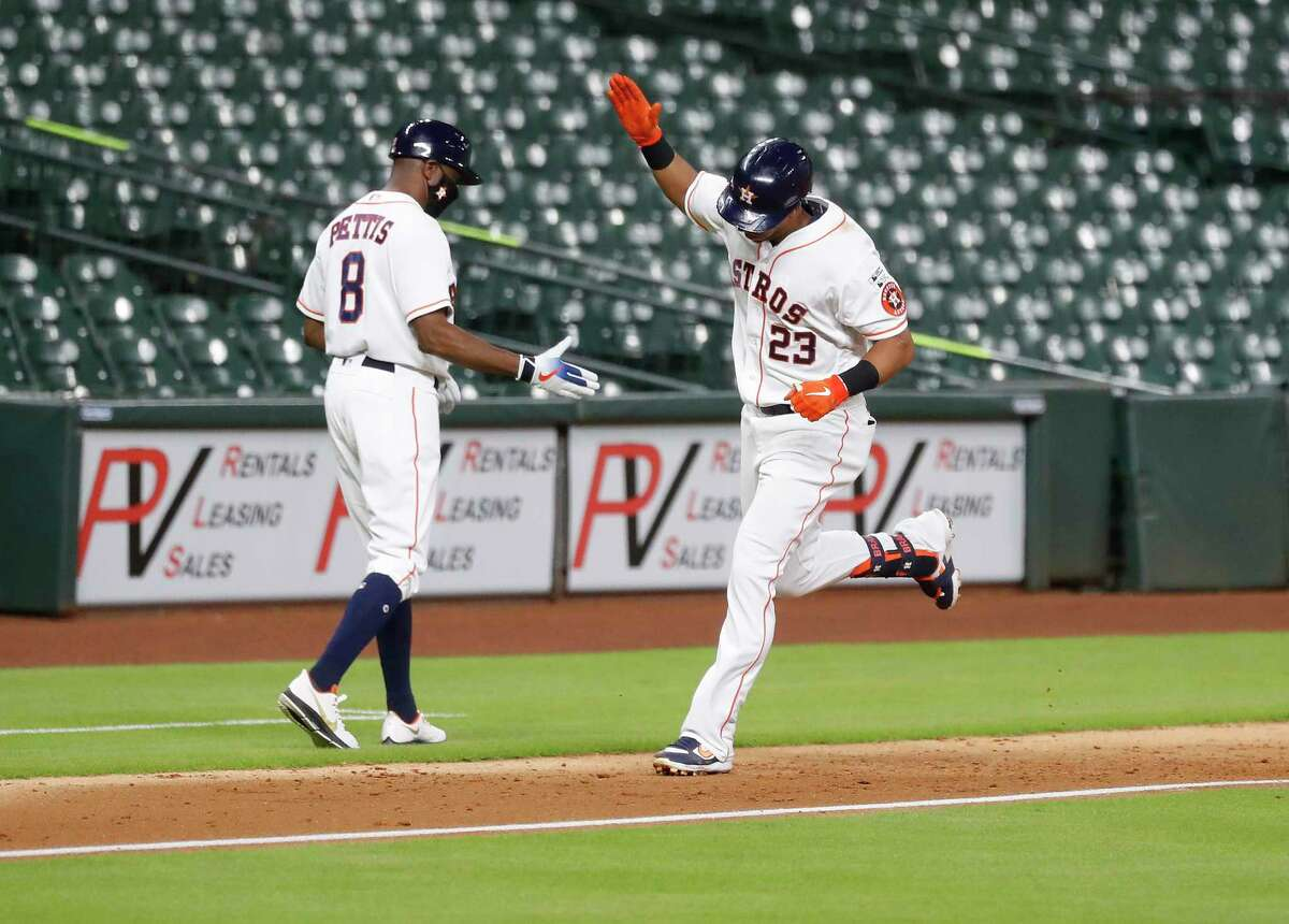 July 24: Astros 8, Mariners 2 Record: 1-0 Houston Chronicle's Player of the Game Michael Brantley 2 for 3/ 1 R/ 3 RBI/ 1 HR