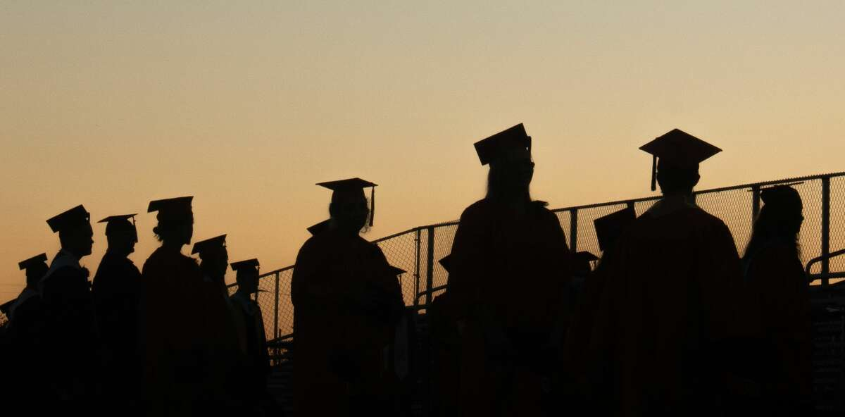 Harbor Beach Community Schools graduation June 25 on the football field. Family's, friends, and community members gathered to watch 2020 graduates celebrate their big day.