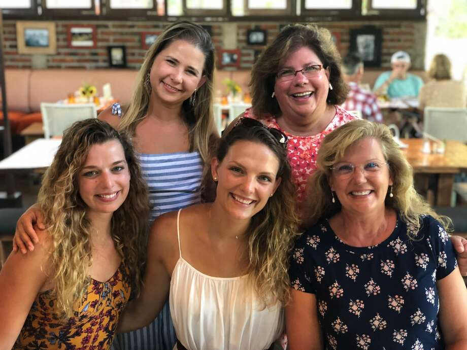 Dani Blake (far left) is joined by (from left) cousin Alex Western, sister Tori Blake, aunt Marie Western, and mother Lynda Blake. Photo: Photo Provided