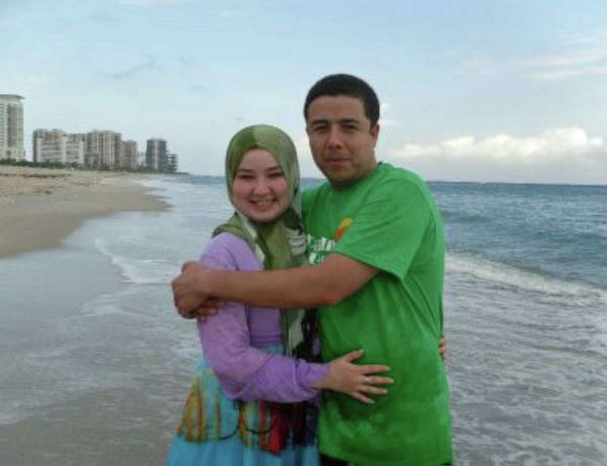Bakhodir Madjitov posed with his wife Madina Mamadjonova prior to his detention by U.S. Immigration and Customs Enforcement in 2017. Mamadjonova lives in Broad Brook, Conn. with their three children. Madjitov remains in ICE custody.