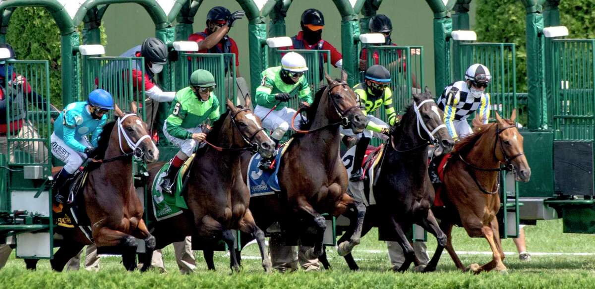 The gate opens at the start of the 32nd running of The Ballston Spa Saturday July 25, 2020 at the Saratoga Race Course in Saratoga Springs, N.Y. Photo by Skip Dickstein/Special to the Times Union.