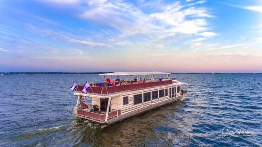 "Waterpoint on Lake Conroe is teaming up with the first Margaritaville Resort in Texas to offer tours on the ""Little Palm"" 80-foot Yacht with a double deck. Photo: Submitted Photo / Submitted Photo"