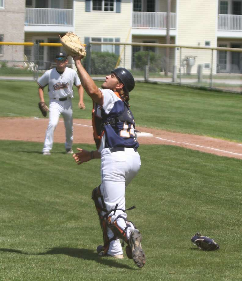 The Manistee Saints kicked off a four-game series with a home doubleheader against the Midland Tribe on Saturday. Photo: Kyle Kotecki/News Advocate