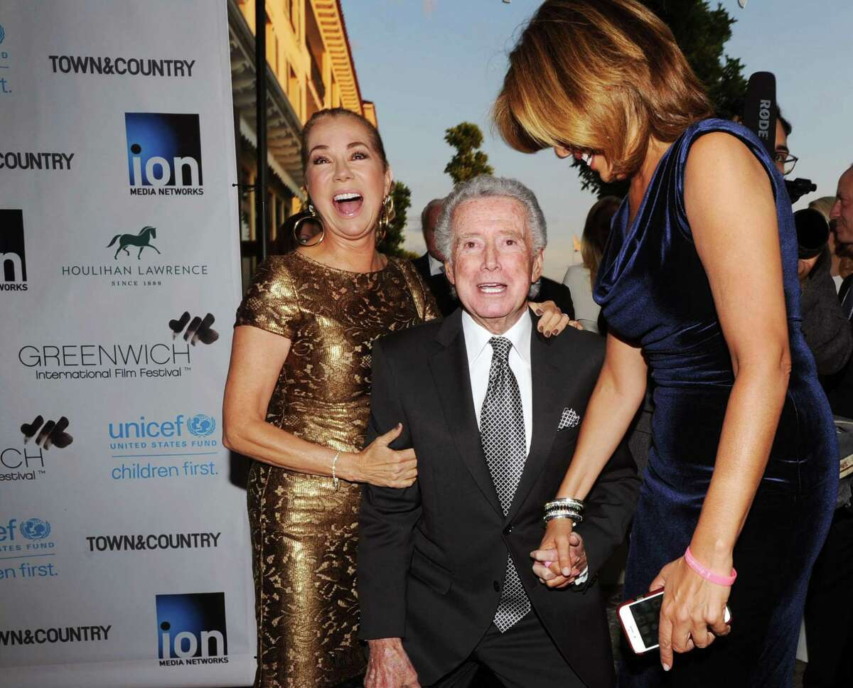 From left, Kathie Lee Gifford, Regis Philbin and Hoda Kotb during the Greenwich International Film Festival Gala on June 6, 2015.
