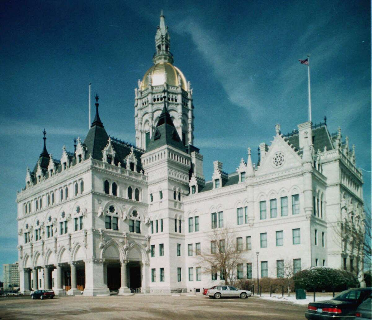 The State Capitol, which opened in 1878, is a gold-domed, Victorian-Gothic creation designed by Richard M. Upjohn.