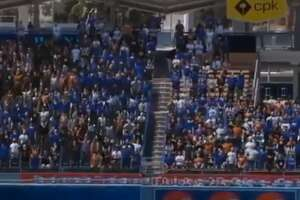 Fox Sports had computer-generated fans do the wave during the Giants-Dodgers game on Saturday, July 25, 2020.