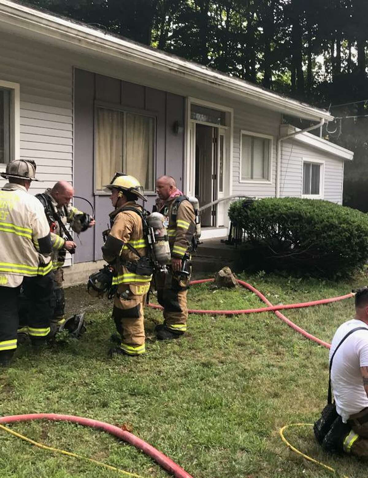 All Shelton fire departments responded to a house fire on Ripton Road Saturday, July 25.