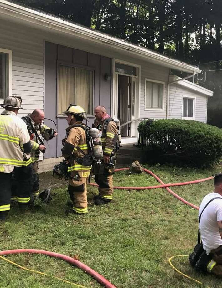 All Shelton fire departments responded to a house fire on Ripton Road Saturday, July 25. Photo: Shelton Fire Department / Contributed Photo / Connecticut Post