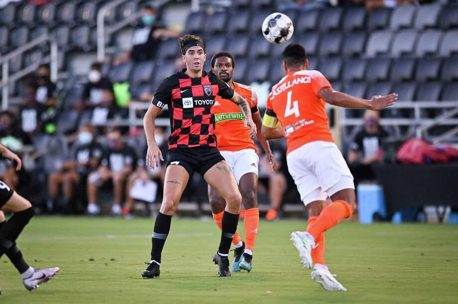 Rio Grande Valley FC Toros play San Antonio FC during the first half of a USL Championship soccer match on July 25, 2020, at Toyota Field in San Antonio. Photo: Darren Abate /USL Championship / Darren Abate/San Antonio FC/USL Championship