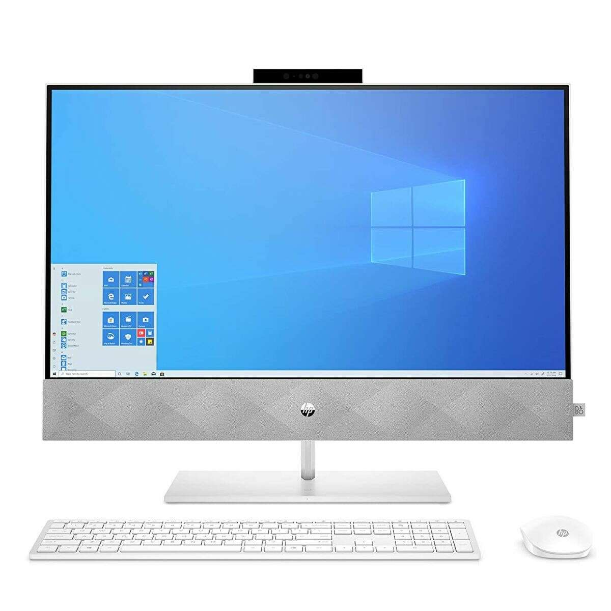1) HP Pavilion All-in-One Desktop Computer, 27-inch Full HD Touchscreen, Intel Core i7-10700T Processor, Intel UHD Graphics 630, 16 GB Ram, 1 TB SSD Storage (27-d0080, Snowflake White): $1349.99 Shop Now