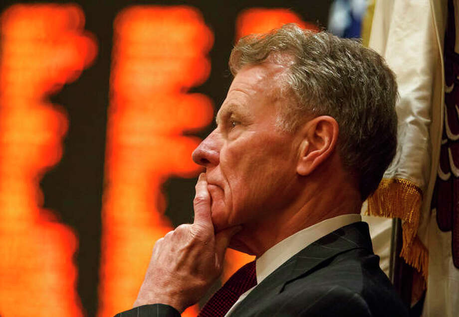 Illinois Speaker of the House Michael Madigan, D-Chicago, in August 2017, looks out over the floor the Illinois House at the Illinois State Capitol in Springfield. ComEd has agreed to pay $200 million to resolve a federal criminal investigation into a long-running bribery scheme that implicates Madigan, the U.S. Attorney's office announced Friday, July 17. Photo: Justin L. Fowler|The State Journal-Register Via AP, File