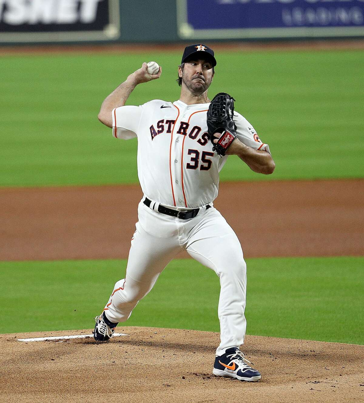 Justin Verlander was sharp on Opening Day against Seattle, then came down with a sore right forearm.