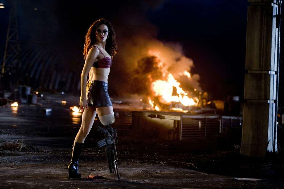 When you have a machine gun for a leg, as Rose McGowan does in 'Planet Terror,' you can pretty much do anything you want. Photo: WEINSTEIN CO.