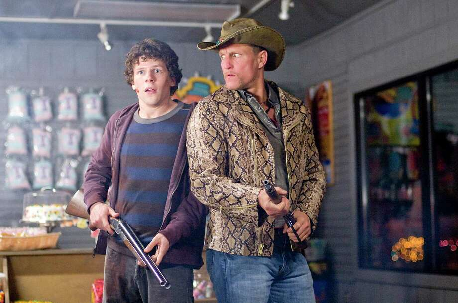 Jesse Eisenberg and Woody Harrelson try to remember the rules to live by to survive in 'Zombieland.' Photo: Glen Wilson, ZOMBIELAND / ASSOCIATED PRESS / Associated Press
