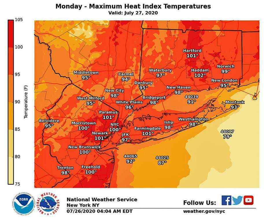 With hot temperatures and high humidity, the National Weather Service has issued a heat advisory through Tuesday, July 29, 2020. A Heat Advisory is issued when the combination of heat and humidity is expected to make it feel like it is 95 to 99 degrees for two or more consecutive days, or 100 to 104 degrees for any length of time.
