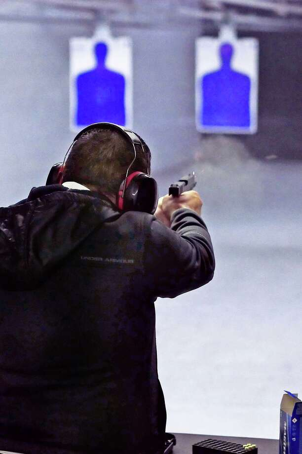 The Arena Gun Club has limited the size of its license to carry classes to 12 students to comply with COVID-19 pandemic protocols. Photo: Cuate Santos / Laredo Morning Times File