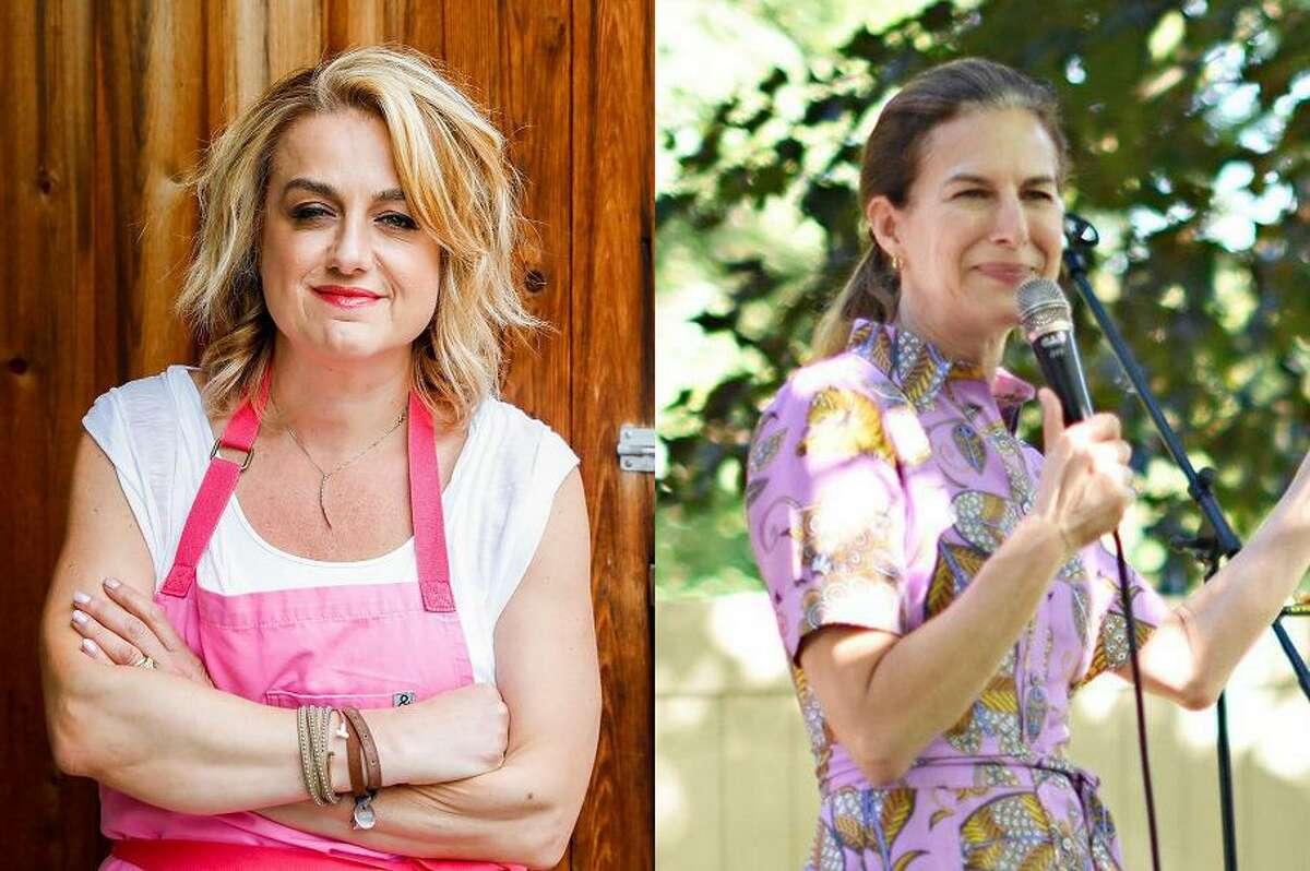 Local Food Network Chopped ChampionChef Silvia Baldini and Lieutenant Governor Susan Bysiewicz.