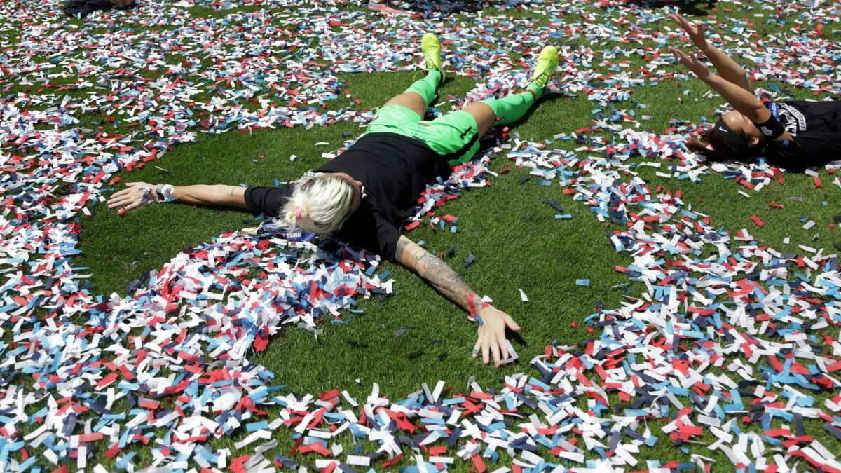 PHOTOS: Check out the Houston Dash's raucous locker room celebration after claiming the NWSL title Houston Dash goalkeeper Jane Campbell (1) celebrates after a win in the NWSL soccer Challenge Cup championship game against the Chicago Red Stars, Sunday, July 26, 2020, in Sandy, Utah. (AP Photo/Rick Bowmer)