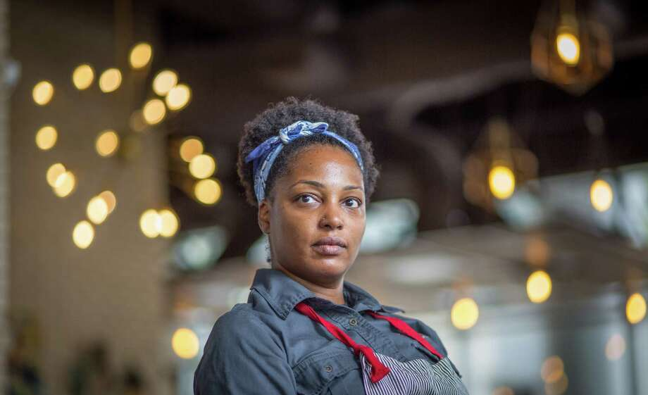 Chef Dawn Burrell will prepare hors d'oeuvres inspired by Michelin-star chef Dominique Crenn of San Francisco for a virtual happy hour on Nov. 5 hosted by I'll Have What She's Having. Photo: Nick De La Torre, Contributor / ©Houston Chronicle