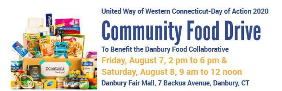 A community food drive will be held Aug. 7 and 8, at the Danbury Fair Mall. Photo: Contributed Photo