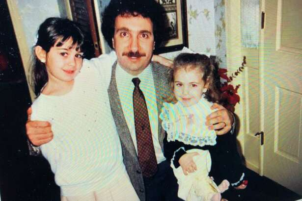 A much younger Jerry Zezima with daughters Katie, left, and Lauren.