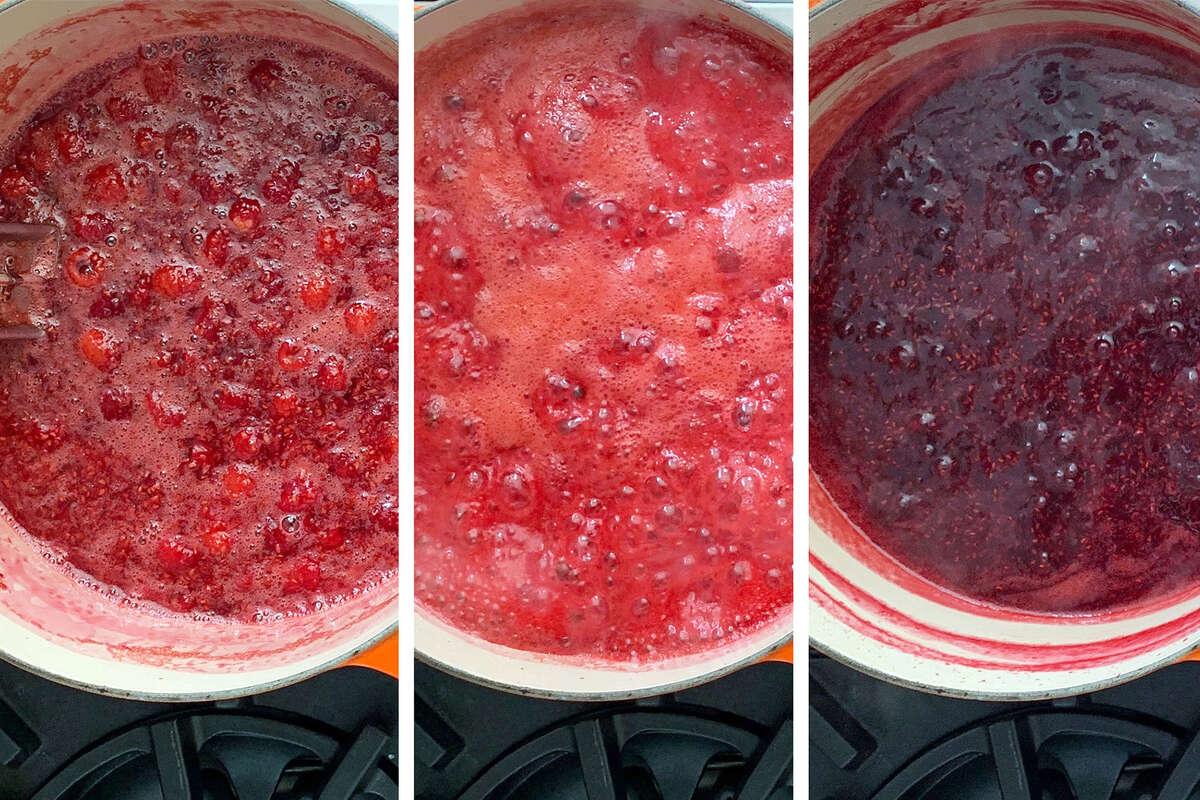 Making fruit jam.