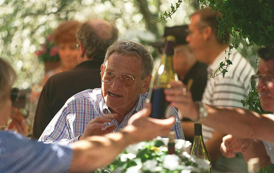 Barry Sterling, at a harvest lunch at Iron Horse Vineyards, as seen in 2001. Photo: Eric Luse