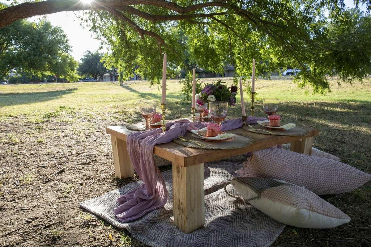 A picnic is set up at Grafa Park on June 25.