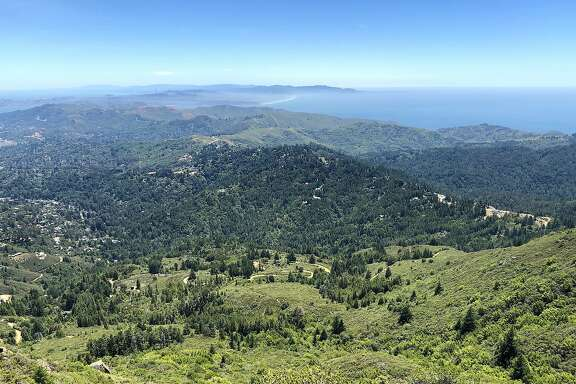 From 2,571-foot East Peak at Mount Tamalpais, you can see miles across the Marin Headlands, the ocean on one side, the bay on the other, with Ocean Beach prominent in San Francisco