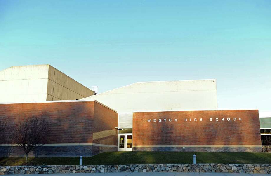 An exterior of Weston High School in Weston, Conn. shot Wednesday, Jan. 18, 2012. Photo: Autumn Driscoll / Autumn Driscoll / Connecticut Post
