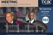 """Two Southeast Texas lawmakers will participate in a virtual town hall Thursday hosted by the Texas Legislative Black Caucus to """"provide answers and clarity"""" about the statewide discussion over opening schools amid the ongoing coronavirus pandemic."""