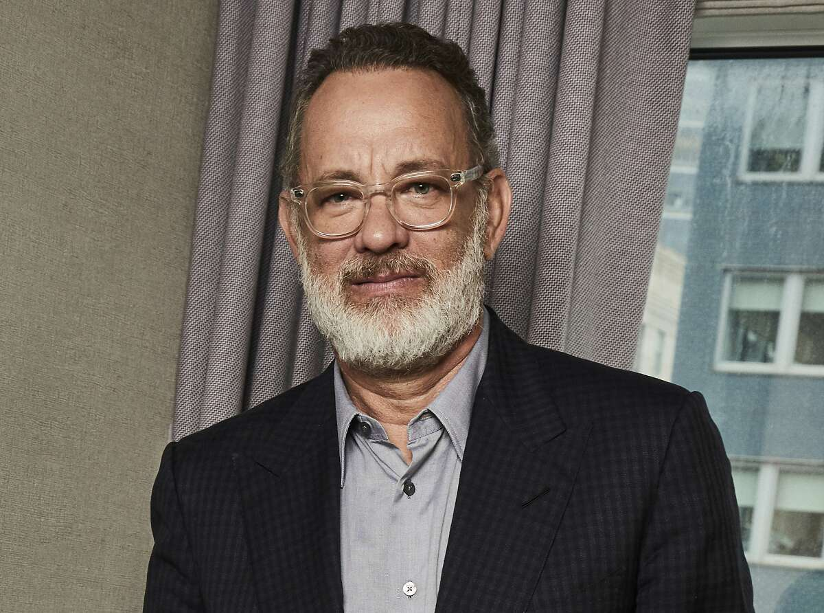 This Nov. 17, 2019 photo shows Tom Hanks posing for a portrait in New York. Hank's latest film