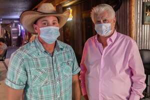 Soggy Bottom Saloon owners Bobby Parhamn, Jr. and Bobby Parham, Sr. are proud to own a bar where everyone knows your name, but the governor's shutdown is seriously hurting them financially. The bar in Beaumont joined more than 800 bars in the Freedom Fest State-Wide Unified 51%er Protest defying Governor Greg AbbotÕs executive order which shutdown bars. Photo made on July 25, 2020.  Fran Ruchalski/The Enterprise